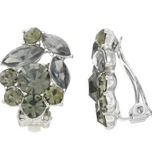 Simply Vera Wang Crystal Cluster Clip-On Earrings